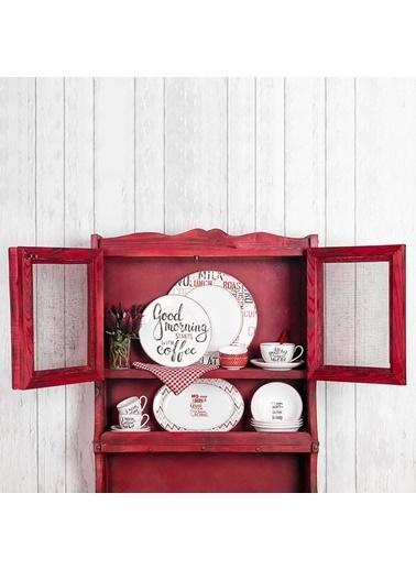 Bernardo Rhoda 4 Parça Yuvarlak Porselen Tatlı Tabağı Takımı - 23 Cm Renkli